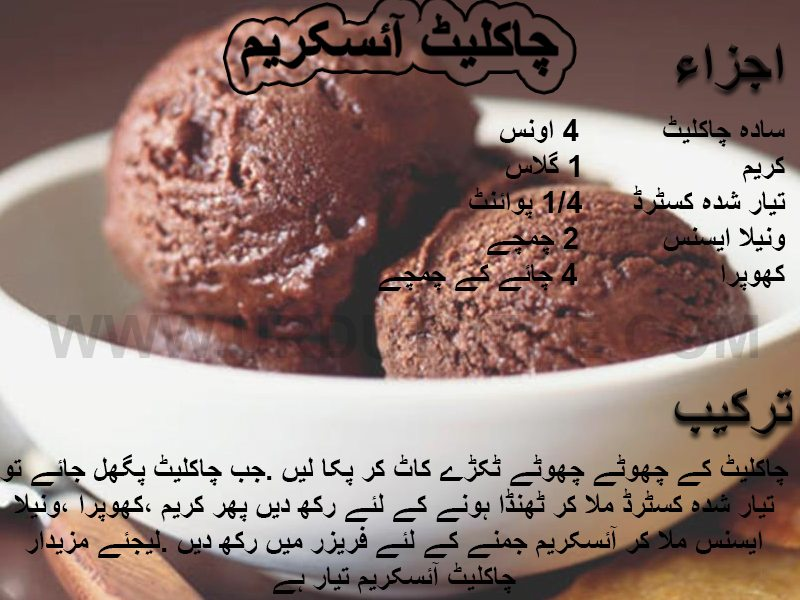chocolate ice cream recipes in hindi