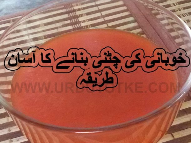 khubani ki chatni ramadan recipes for iftar