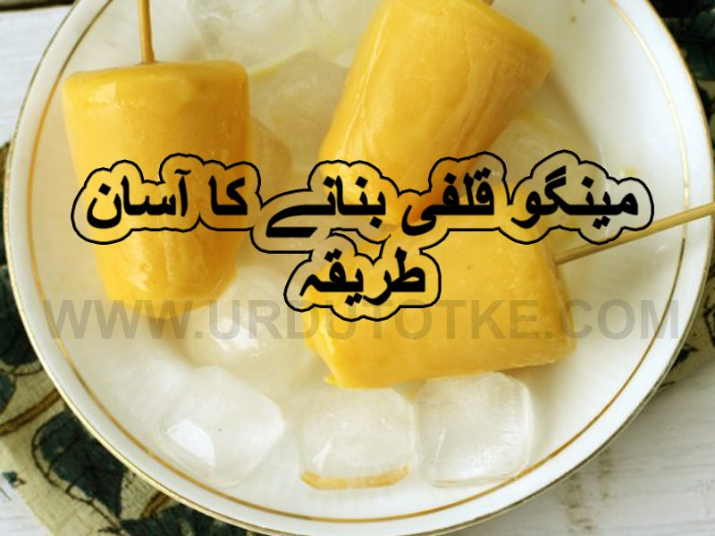 simple mangoes kulfi recipes in urdu