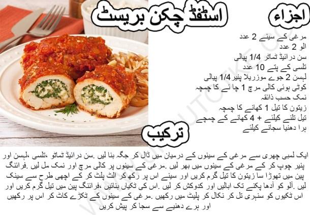 healthy stuffed chicken breast recipes
