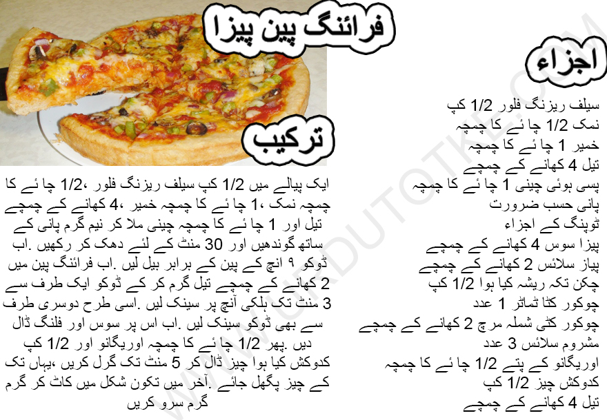 how to make pizza in pan step by step