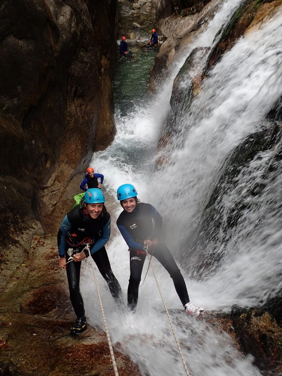 Canyon du Soussouéou, vallée d'Ossau - Ur eta Lur Canyoning et Randonnée