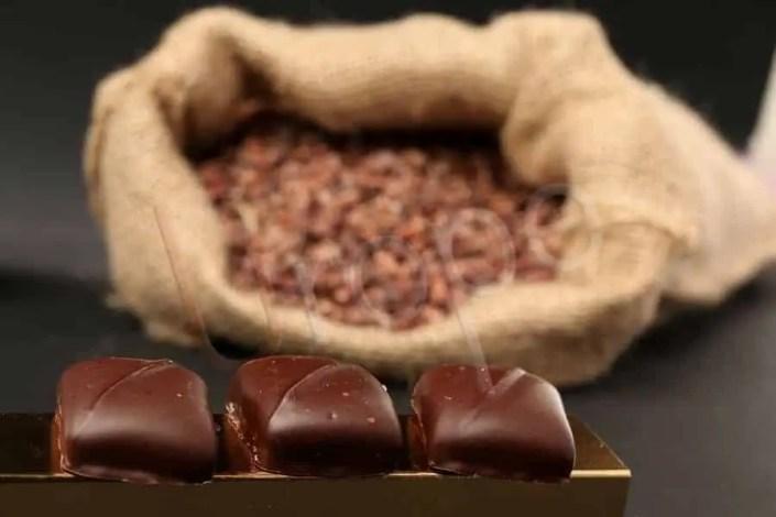 Bonbon avec du cacao