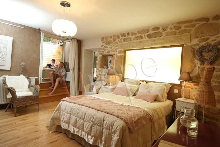 Photo de chambre d'un gîte étoilé en Isère