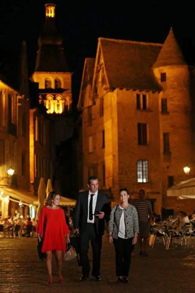 Visite de Sarlat en nocturne