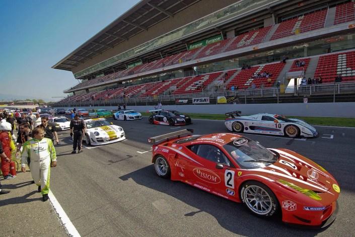 Photo pour différents supports de communication d'une Course automobile sur le circuit de Barcelone