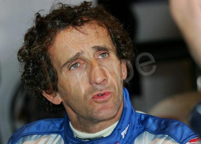 Photo-portrait d'Alain Prost sur le grand prix de France