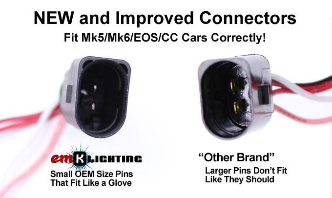 emK LED License Plate light - VW Golf Mk4, Mk5, Mk6, EOS, CC
