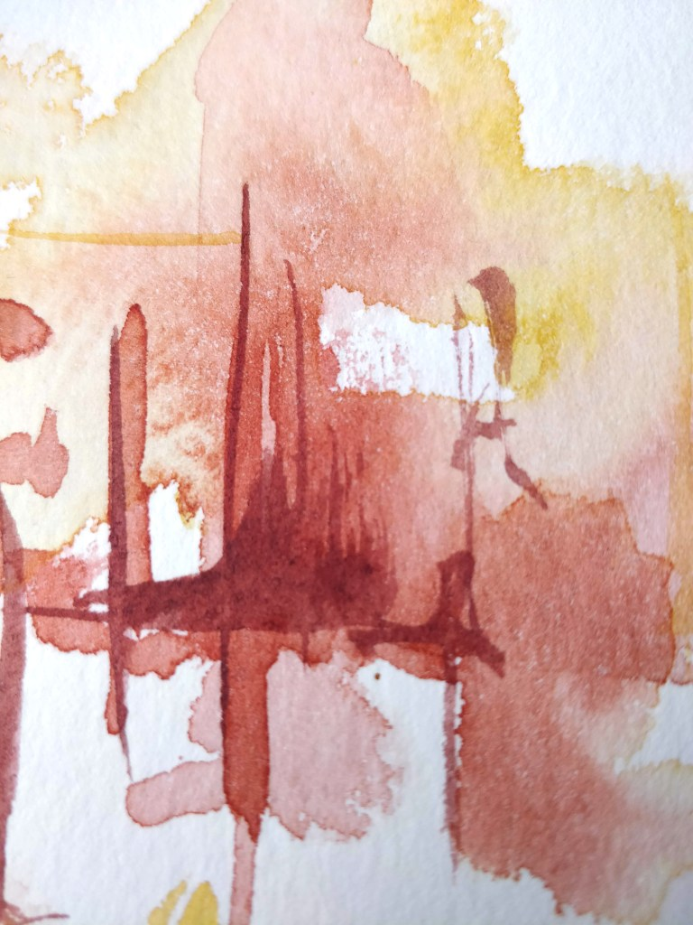 Abstract watercolor, detail