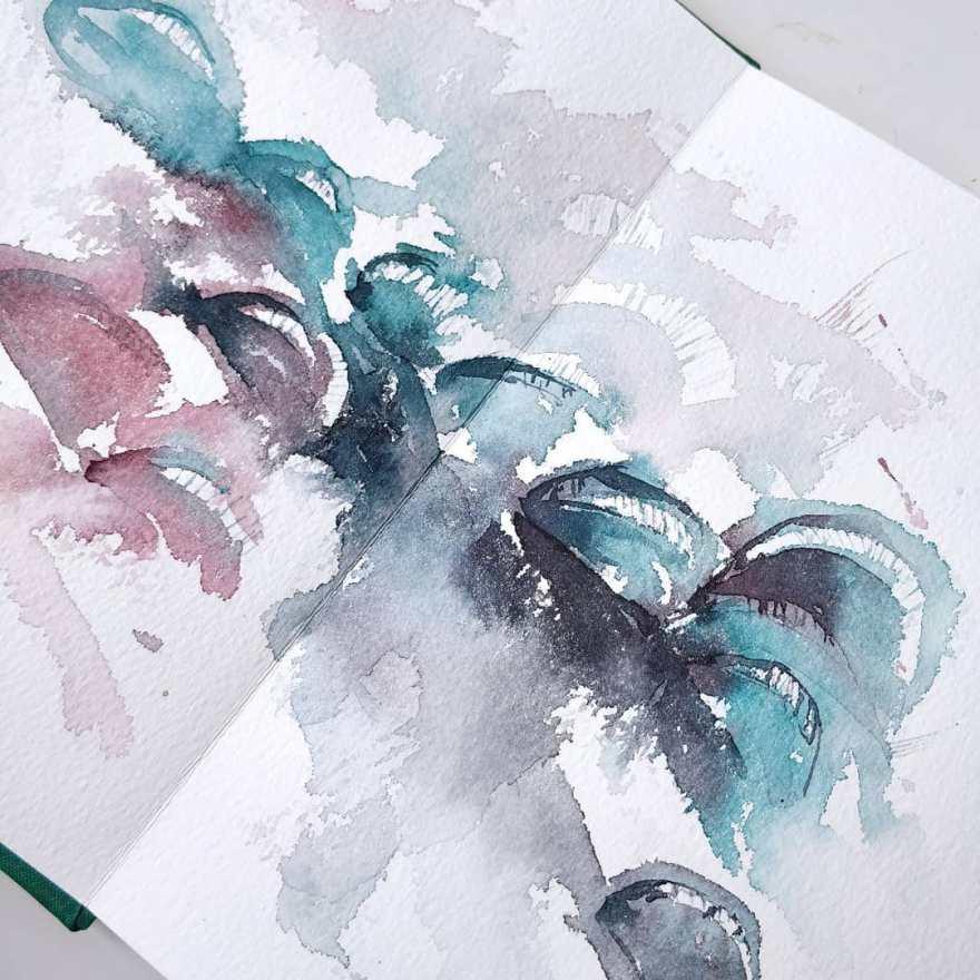 Venus flytrap, abstract version