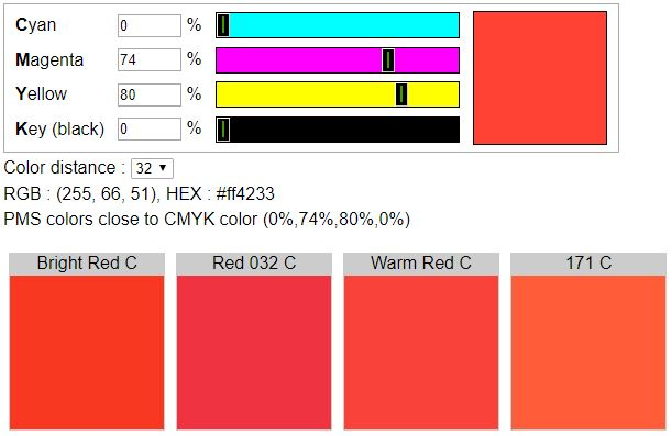 Pantone Color Chart Warm Red | mountainstyle co