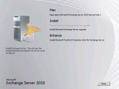 Install SP1 for Exchange 2010 Upgrade Upgrade