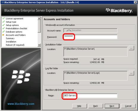 8g-install-bes-express-accounts-folders