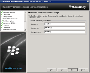 8p-install-bes-express-active-directory-settings