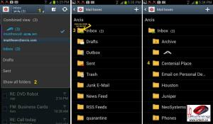 How To View Email Inbox folders on Gallaxy S3 Android 4