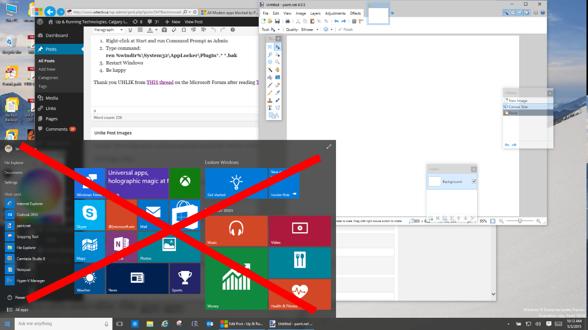 SOLVED: Windows 10 Start Menu and Modern Apps Do Not Function – Up &  Running Technologies, Tech How To's