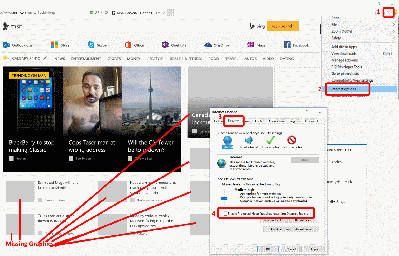 SOLVED: IE11 Does Not Display Pictures, Just Placeholders