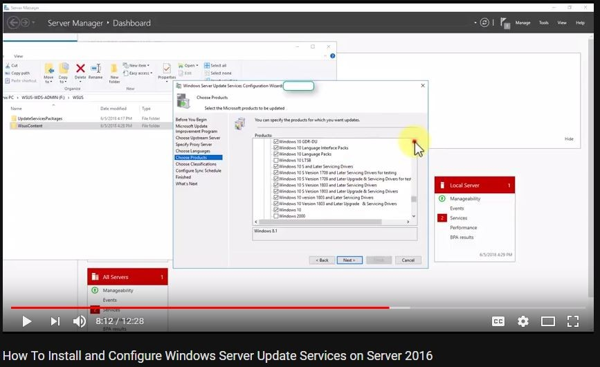 VIDEO: How To Install and Configure Windows Server Update