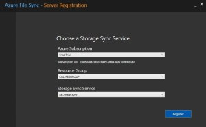 Azure-file-sync-registration