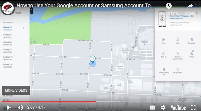 VIDEO: How to Use Your Google Account or Samsung Account To Remotely