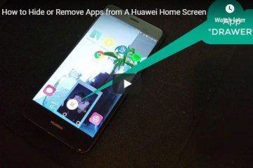 huawei hide remove apps from home screen