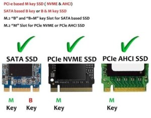 M dot 2 B and B M and M keyed SSD