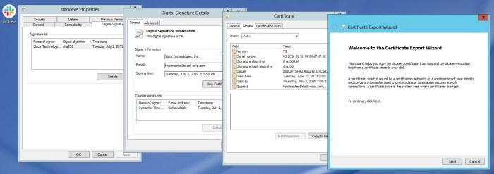 export certificate