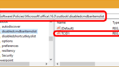 gpo registry entry to disable the ARCHIVE button in Outlook