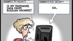 is password safe from russian hackers - da - cartoon