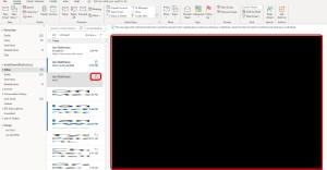 outlook DO NOT FORWARD creates black screen