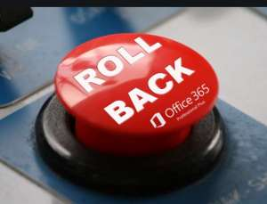 office 365 roll back