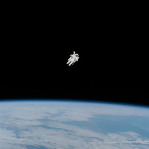 astronaut - blue black earth