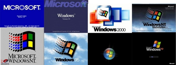 windows boot screens logos