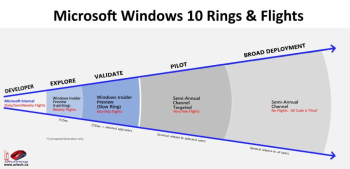 Microsoft Windows 10 Rights and Flights Explained
