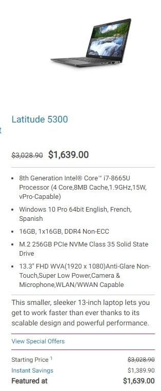 Dell 5300 2 in 1