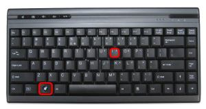 windows keyboard win i for settings
