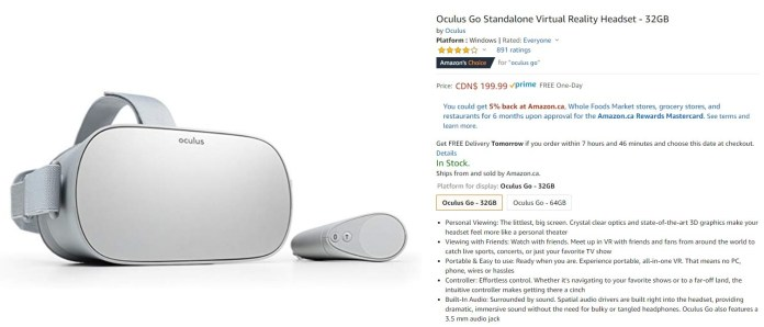 Amazon Oculus Go 32gb