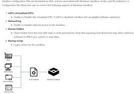 windows sandbox configuration file explained
