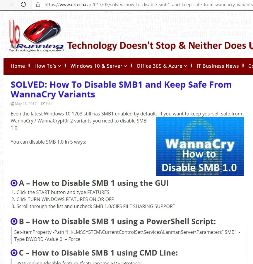 why and how to disable smb1