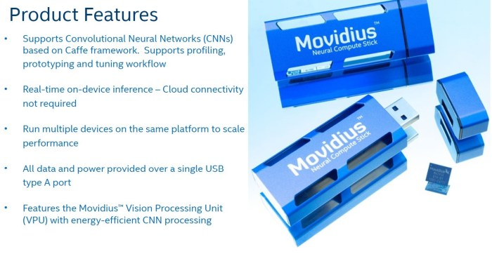 Intel Movidius Product Features