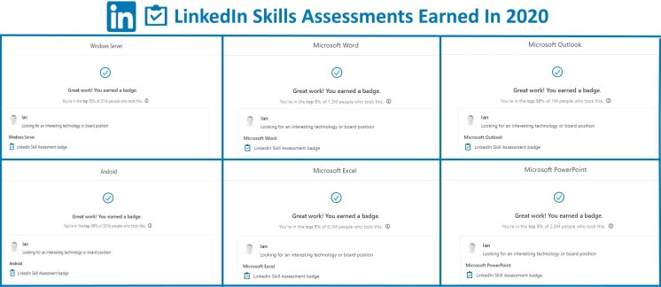 LinkedIn Assessments 2020 Ian Matthews