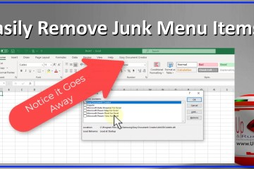 easily remove junk menu items from Word Excel PowerPoint MS Office