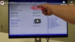 enter bios on intel compute stick 25 t5