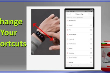 amazfit band 5 change your shortcuts icons order