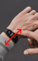amazfit band 5 swipe left or right