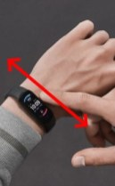 amazfit band 5 swipe up or down