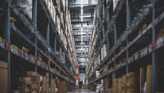 tall warehouse stacks stock
