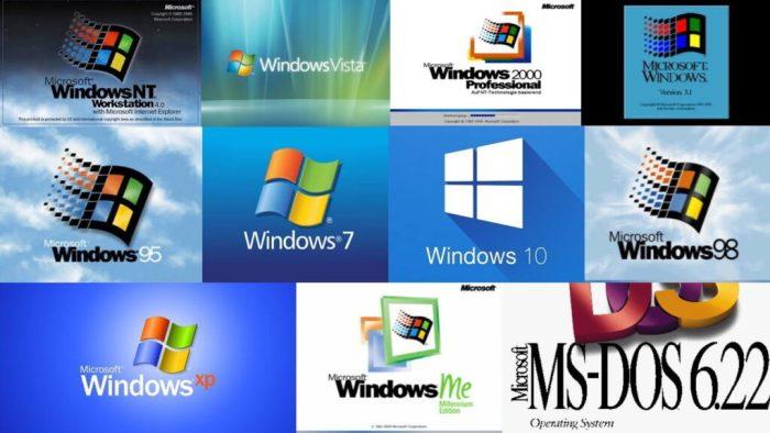 windows nt vista 2000 31 95 7 10 98 xp me and dos