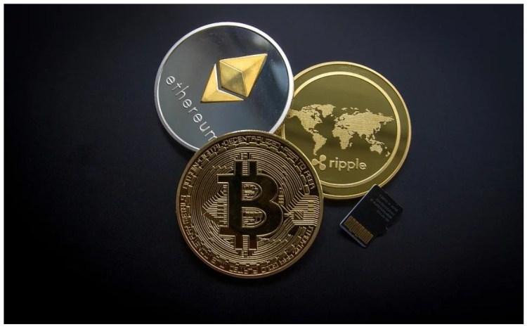 bitcoin ethereum ripple coins SD card