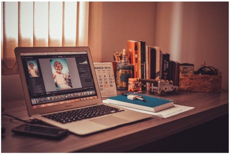 photo editing on laptop